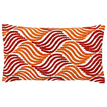 Buy west elm Crewel Waves Cushion, Cayenne Online at johnlewis.com
