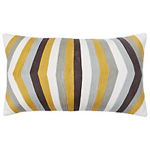 Buy west elm Crewel Optic Stripe Cushion Online at johnlewis.com