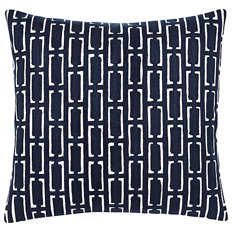 Mid Century Crewel Bracket Geo Pillow Cover - Nightshade : Buy west elm Crewel Bracket Geo Cushion John Lewis