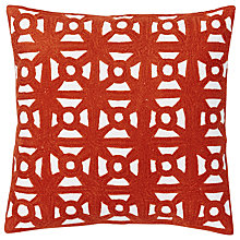 Buy west elm Modern Crewel Lattice Cushion, Cayenne Online at johnlewis.com