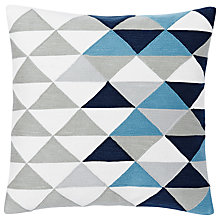 Buy west elm Optical Triangle Crewel Cushion Online at johnlewis.com