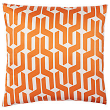 Buy west elm Silk Stacked Geo Cushion, Sweet Potato Online at johnlewis.com