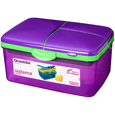 Sistema Quaddie Lunch Box, 2L, Assorted