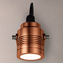 Buy Konstsmide Monza Outdoor Spotlight, Anodised Copper Online at johnlewis.com
