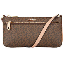 Buy DKNY Heritage Coated Logo Leather East/West Across Body Bag Online at johnlewis.com