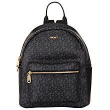 Buy DKNY Heritage Coated Leather Logo Backpack Online at johnlewis.com