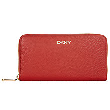 Buy DKNY Tribeca Soft Tumbled Large Leather Caryall Purse, Orange Online at johnlewis.com