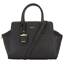 Buy DKNY Tribeca Large Leather East/West Satchel, Black Online at johnlewis.com