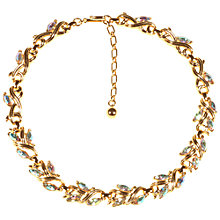 Buy Alice Joseph Vintage Trifari Gold Toned Aurora Borealis Glass Stone Necklace, Gold Online at johnlewis.com