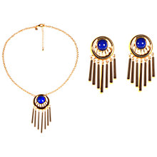 Buy Alice Joseph Vintage Ciro Gold Plated Glass Necklace Earring Set, Gold Online at johnlewis.com