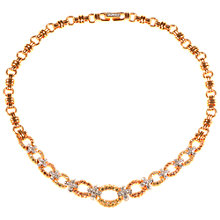 Buy Alice Joseph Vintage 1980s Swarovski Diamante Necklace, Lemon/Citrine Online at johnlewis.com