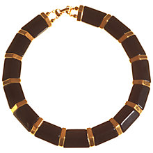 Buy Alice Joseph Vintage 1980s Gold Plated Napier Acrylic Collar Necklace, Black Online at johnlewis.com
