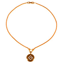 Buy Alice Joseph Vintage 1980s Givenchy Gold Plated Diamante Logo Pendant Necklace, Gold Online at johnlewis.com
