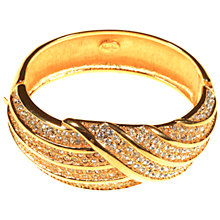 Buy Alice Joseph Vintage 1980s Napier Diamante Bangle, Gold Online at johnlewis.com