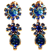 Buy Alice Joseph Vintage 1950s Art Glass Stone Drop Earrings, Blue Online at johnlewis.com