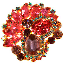 Buy Alice Joseph Vintage 1950s DeLizza & Elster Mix Diamante Brooch, Gold/Multi Online at johnlewis.com