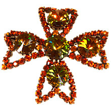 Buy Alice Joseph Vintage Rivoli Diamante Brooch, Orange Online at johnlewis.com