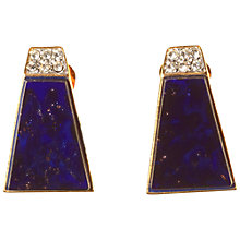 Buy Alice Joseph Vintage 1980s Clear Diamante Clip-On Earrings, Blue Online at johnlewis.com