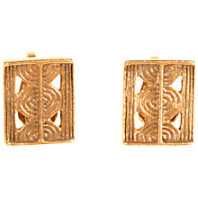 Buy Alice Joseph Vintage Yves Saint Laurent Gold Plated Aztec Style Clip Earrings, Gold Online at johnlewis.com