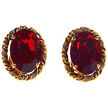 Buy Alice Joseph Vintage 1960s Christian Dior Red Stone Clip-On Earrings, Gold Online at johnlewis.com