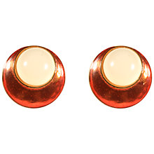 Buy Alice Jospeh Vintage 1980s Yves Saint Laurent Gold Plated Enamel Acrylic Earrings, Cream Online at johnlewis.com