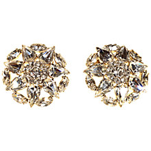 Buy Alice Joseph Vintage 1950s Silver Plated White Diamante Clip On Earrings, Silver Online at johnlewis.com