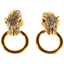 Buy Alice Joseph Vintage 1980s Gold Plated Diamante Leopard Heard Clip-On Earrings, Gold Online at johnlewis.com