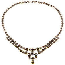 Buy Alice Joseph Vintage 1950s Perdiot Diamante Necklace, Green Online at johnlewis.com