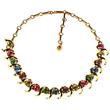 Buy Alice Joseph Vintage 1950s Gold Toned Diamante Necklace, Green/Multi Online at johnlewis.com