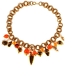 Buy Alice Joseph Vintage 1960s Glass Stone and Pearl Necklace, Caramel/Orange Online at johnlewis.com