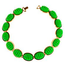 Buy Alice Jospeh Vintage 1980s Monet Gold Plated Acrylic Collar Necklace, Green Online at johnlewis.com