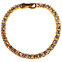 Buy Alice Joseph Vintage 1980s Napier Clear Diamante Bracelet, Gold Online at johnlewis.com