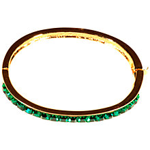 Buy Alice Joseph Vintage Givenchy Square Stone Bangle, Gold/Green Online at johnlewis.com
