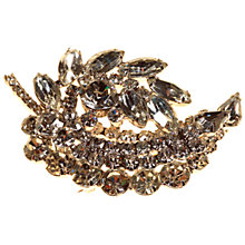 Buy Alice Joseph Vintage 1950s Diamante Leaf Brooch, Silver/Clear Online at johnlewis.com