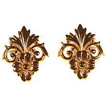 Buy Alice Joseph Vintage 1980s Christian Dior Flower Stud Earrings, Gold Online at johnlewis.com