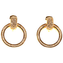 Buy Alice Joseph Vintage 1980s Diamante Circle Drop Clip-On Earrings, Gold Online at johnlewis.com