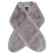 Buy Reiss Falabella Faux Fur Scarf, Grey Online at johnlewis.com