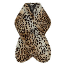 Buy Reiss Falabella Faux Fur Scarf, Leopard Print Online at johnlewis.com
