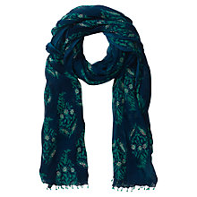 Buy East Anokhi Butah Print Jade Scarf, Indigo Online at johnlewis.com