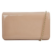 Buy Hobbs Leather Eve Clutch, Light Nude Online at johnlewis.com