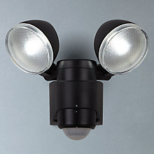 Buy Saxby Laryn Twin LED Security Outdoor Spotlight, Black Online at johnlewis.com