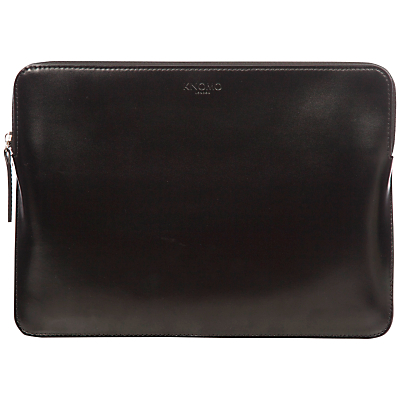 """Image of Knomo Leather Zip Sleeve for 12"""" Laptop"""