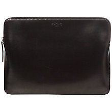"Buy Knomo Leather Zip Sleeve for 12"" Laptop Online at johnlewis.com"