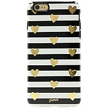 Buy Sonix Heart & Stripe Case for iPhone 6 Plus, Black/Gold Online at johnlewis.com