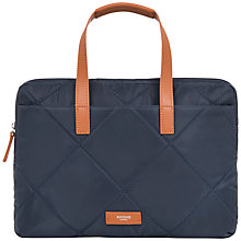 "Buy Knomo Talbot 14"" Slim Briefcase, Navy Online at johnlewis.com"
