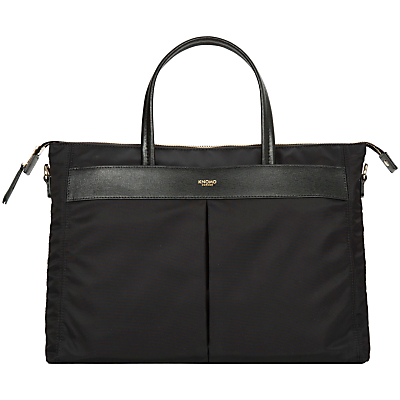 "Image of Knomo Hays Basic Briefcase for Laptop up to 14"", Black"