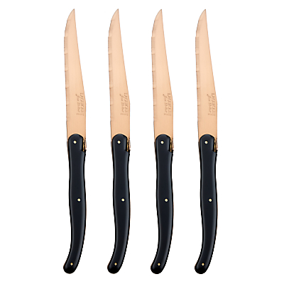 Laguiole by Jean Dubost New Age Bronze Blade Steak Knives, 4 Piece