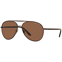 Buy Giorgio Armani AR6030 Aviator Sunglasses, Brown Online at johnlewis.com