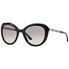 Buy Giorgio Armani AR8065H Cat's Eye Sunglasses, Black Online at johnlewis.com