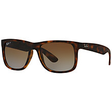 Buy Ray-Ban RB4165 Justin Polarised Wayfarer Sunglasses Online at johnlewis.com